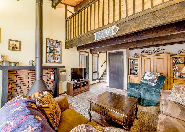 Steamboat Springs CO Vacation Rental Gas fireplace in