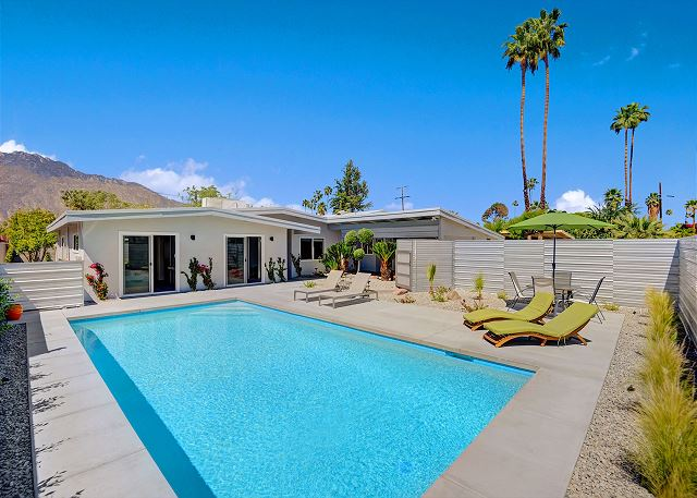 Palm Springs CA Vacation Rental Relax poolside on