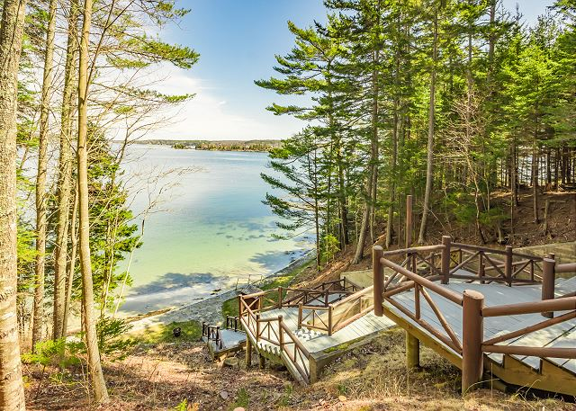 Boothbay Harbor ME Vacation Rental A private deeded
