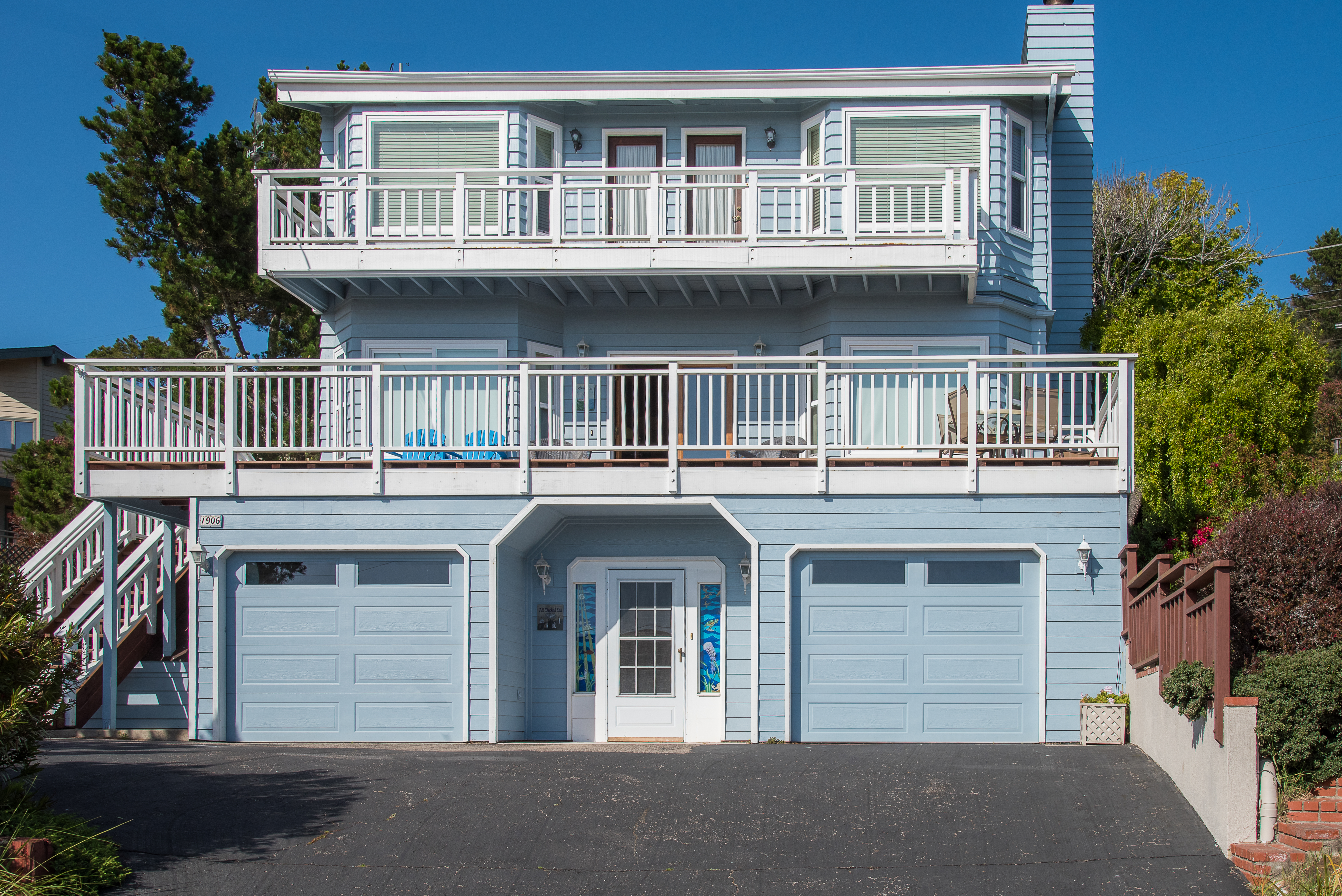 Cambria CA Vacation Rental Balconies give you