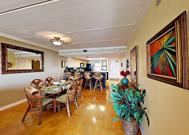 South Padre Island TX Vacation Rental Sit down to