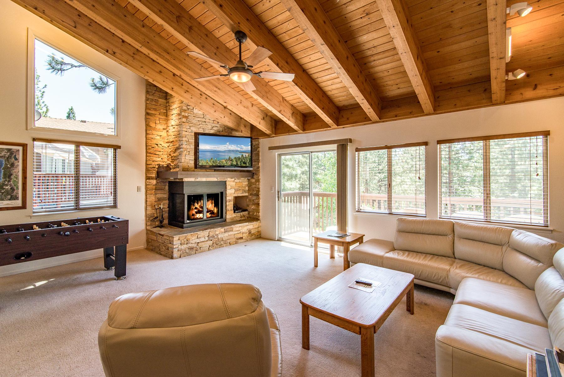 Zephyr Cove NV Vacation Rental A gas fireplace,