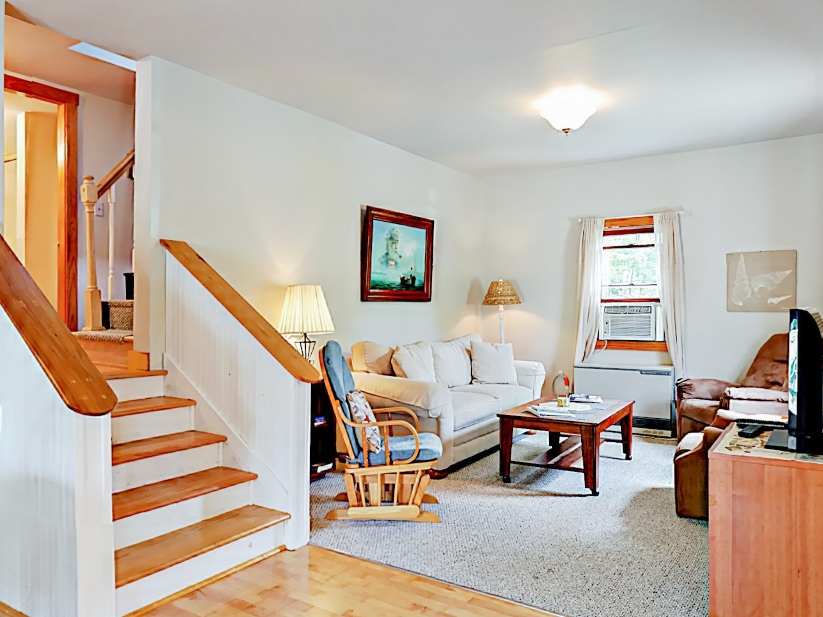 Boothbay Harbor ME Vacation Rental A couch and