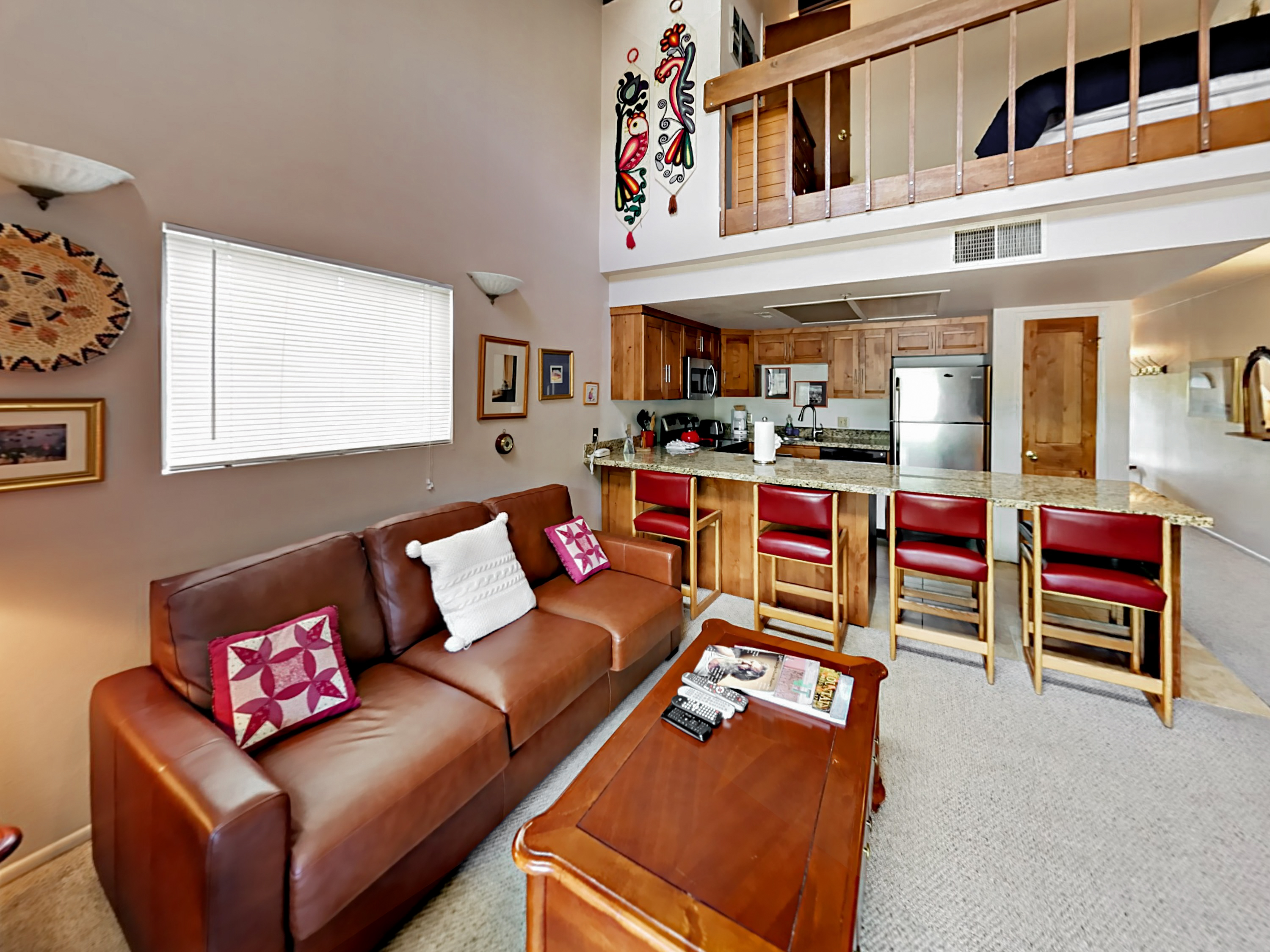 Park City UT Vacation Rental Vaulted ceilings on