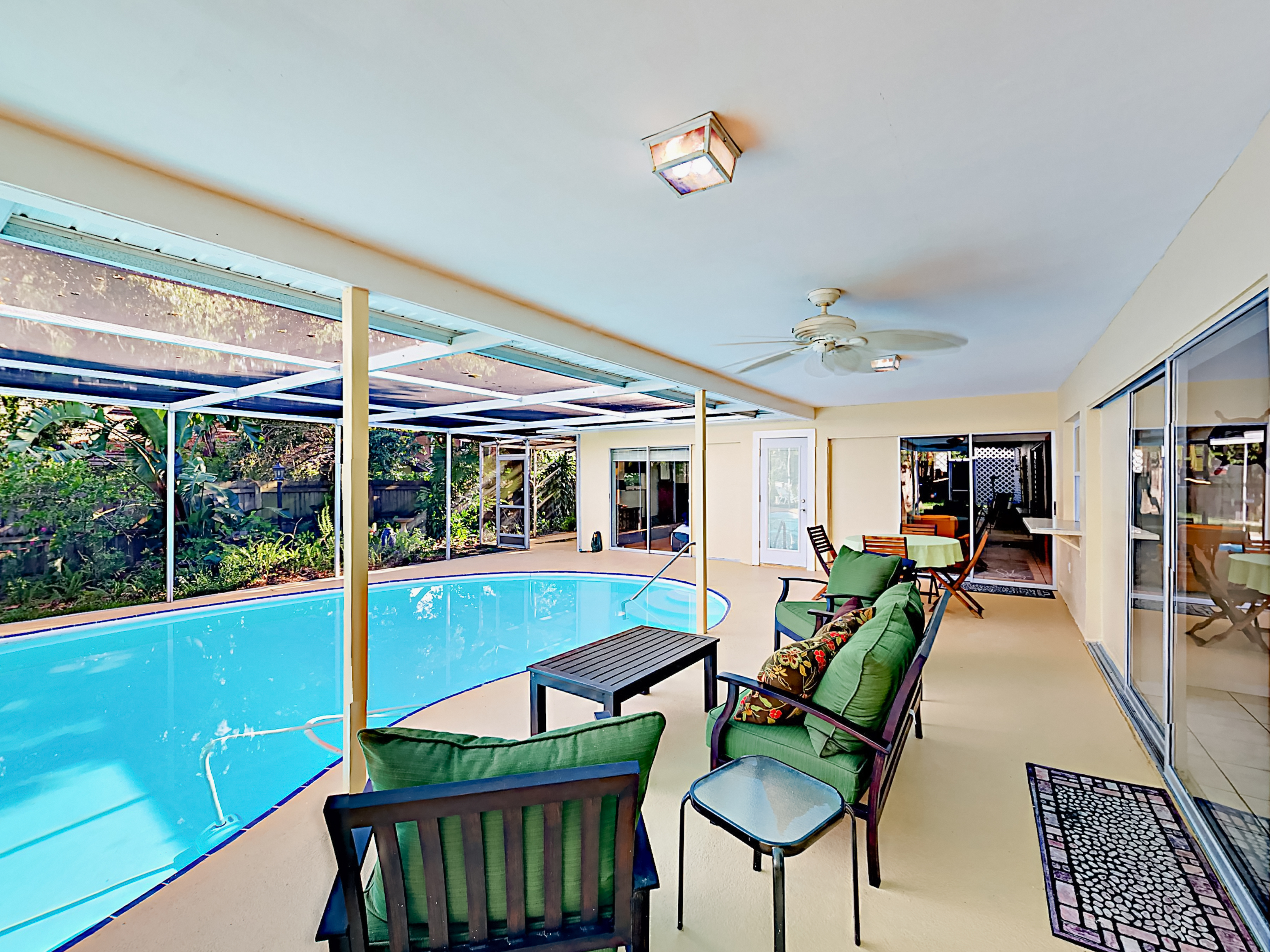 Seminole FL Vacation Rental Lounge poolside and