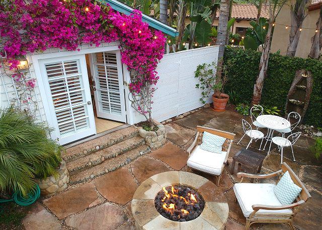 Montecito CA Vacation Rental Idyllic patio with