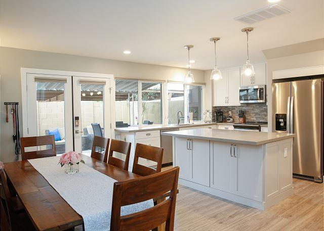 Scottsdale AZ Vacation Rental Upscale kitchen gleams