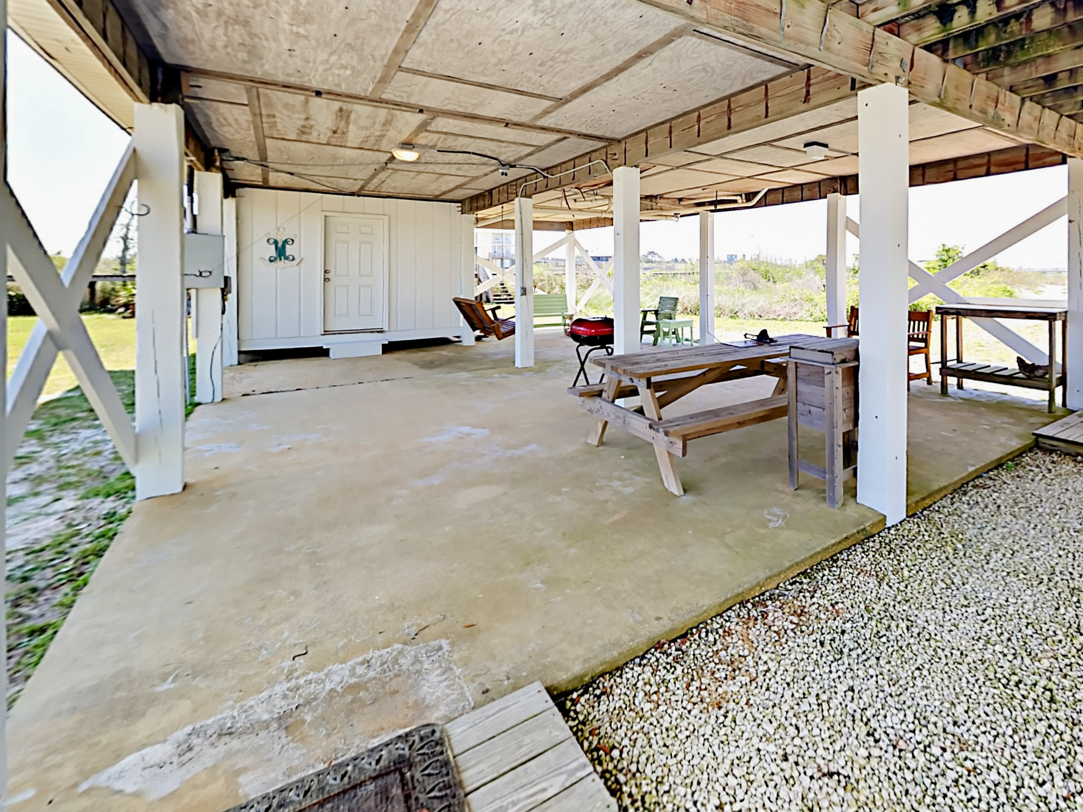 Gulf Shores AL Vacation Rental A covered patio