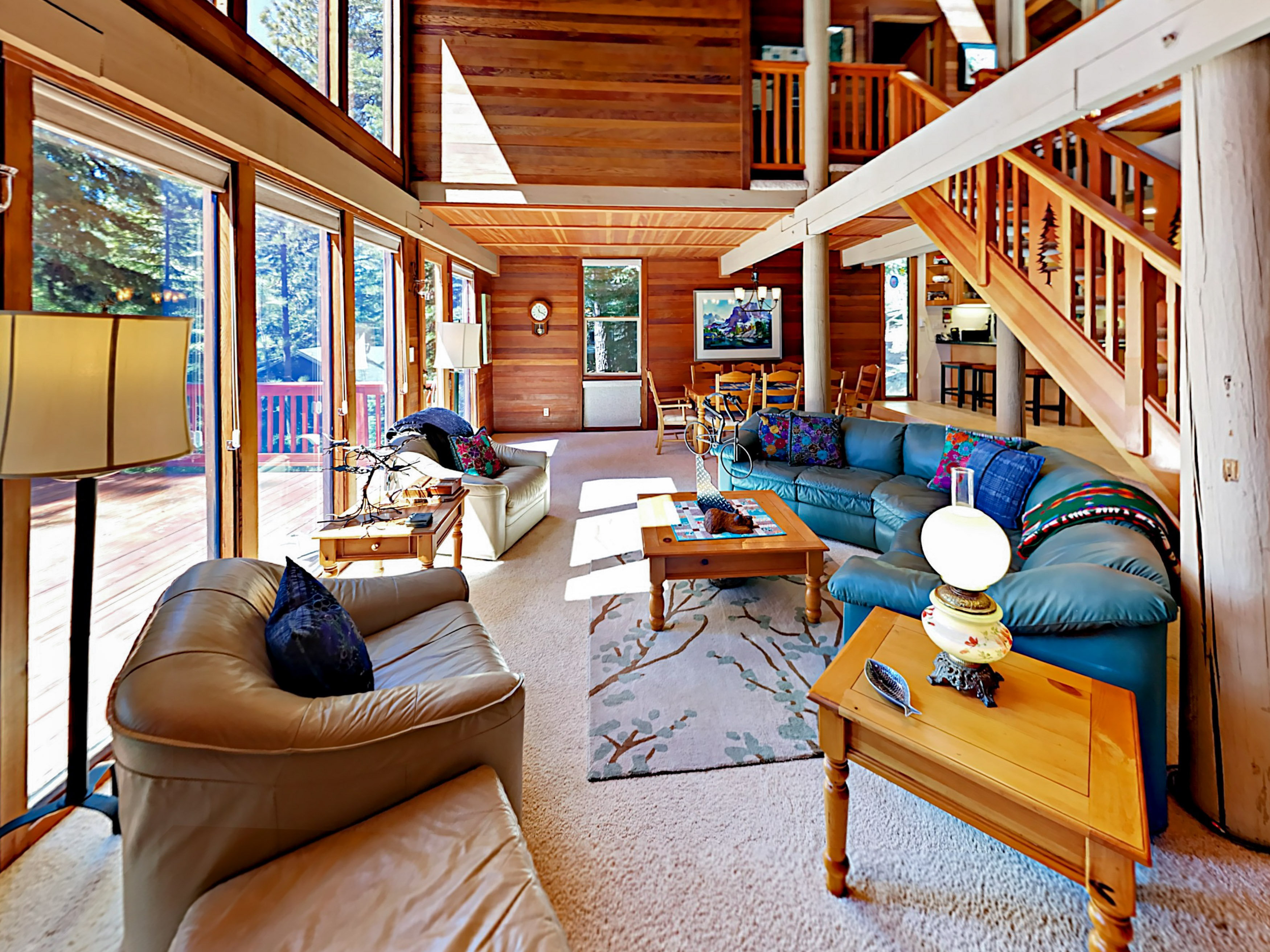 Tahoe City CA Vacation Rental Large windows bring