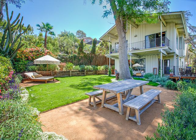 Los Angeles CA Vacation Rental Recently landscaped backyard