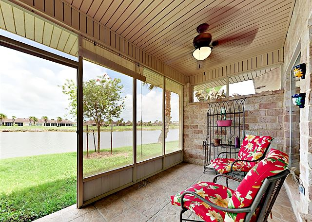 Laguna Vista TX Vacation Rental Lake views from
