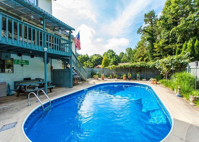 Weaverville NC Vacation Rental Large saltwater pool