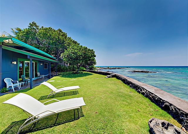 Puako HI Vacation Rental This beachfront rental