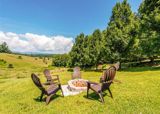 Alexander NC Vacation Rental Fire pit with