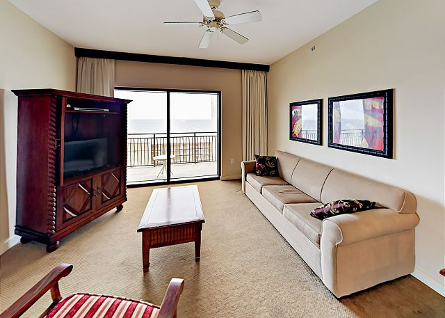 Panama City Beach FL Vacation Rental Living area with