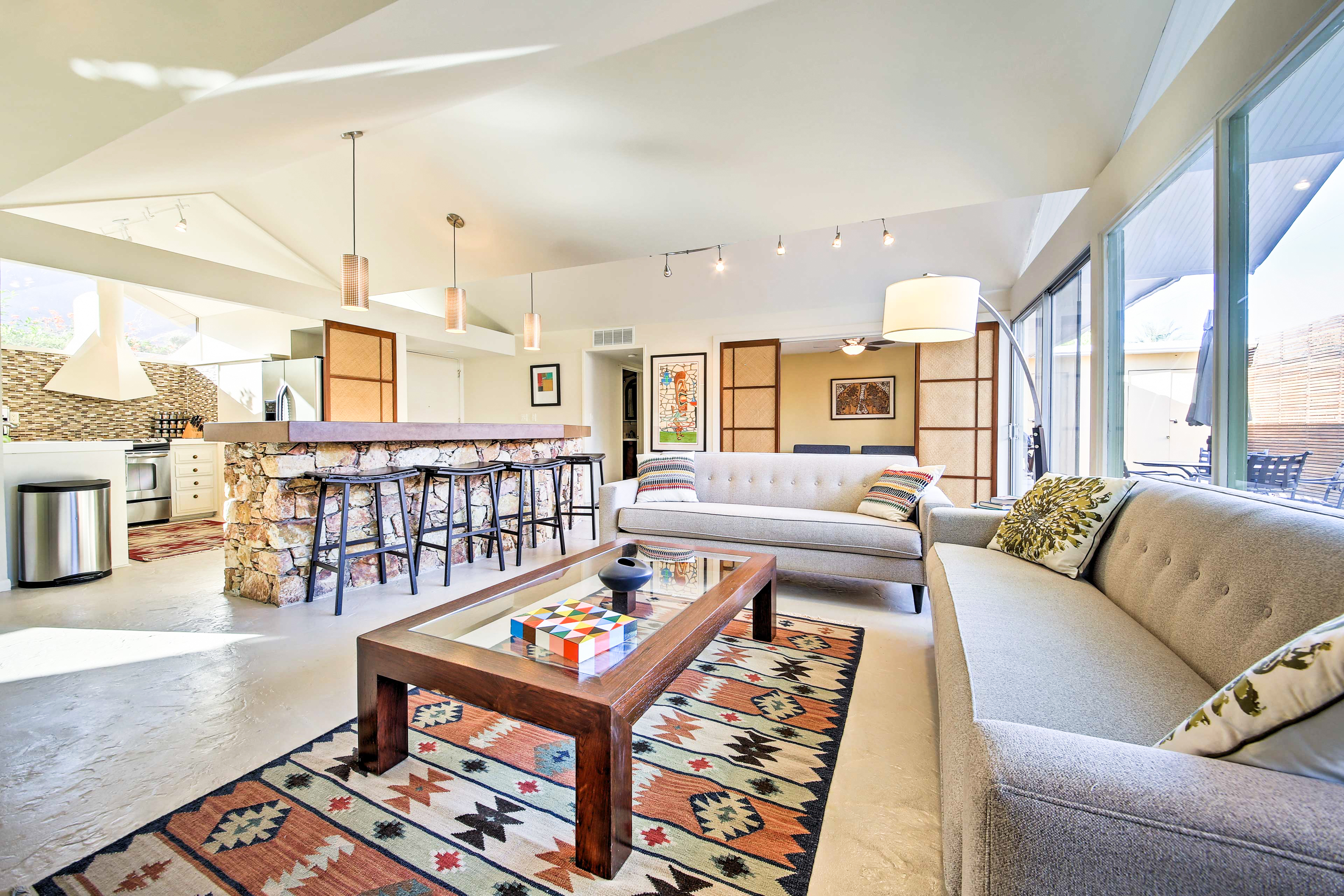 Palm Springs CA Vacation Rental Two contemporary sofas
