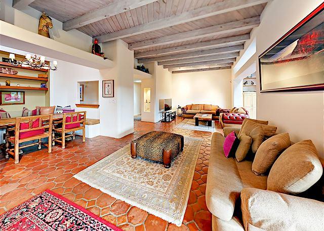 Santa Fe NM Vacation Rental Terra cotta tile