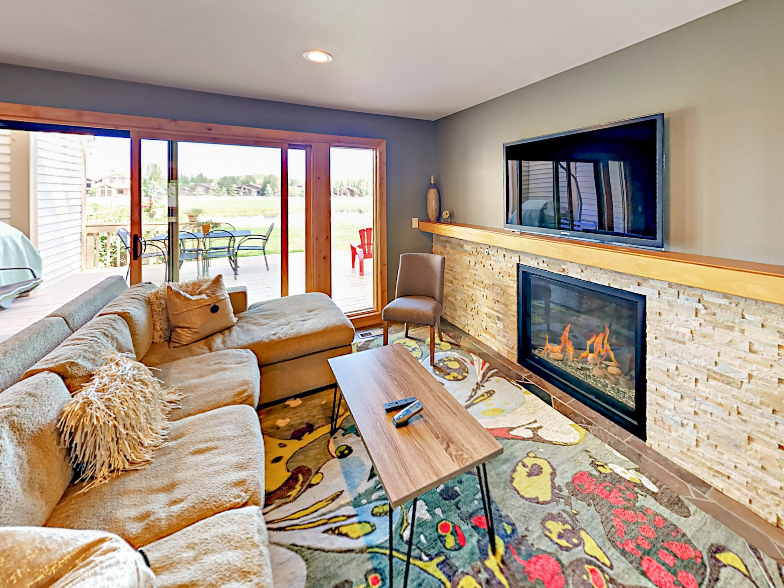 Park City UT Vacation Rental Spanning wall-to-wall, the