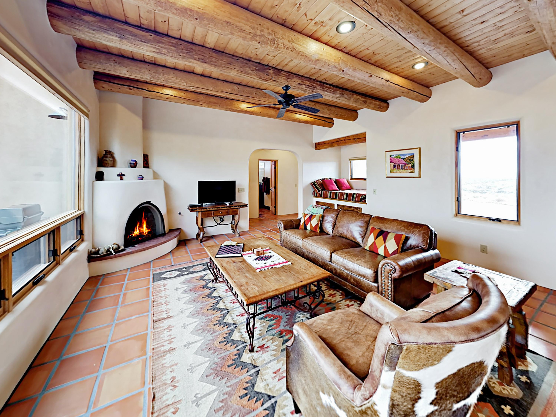 El Prado NM Vacation Rental Open beam ceilings