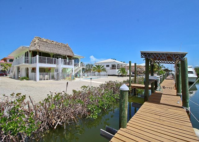 Marathon FL Vacation Rental An extended dock