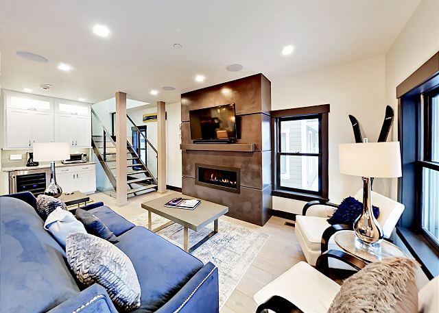 Park City UT Vacation Rental A cozy fireplace