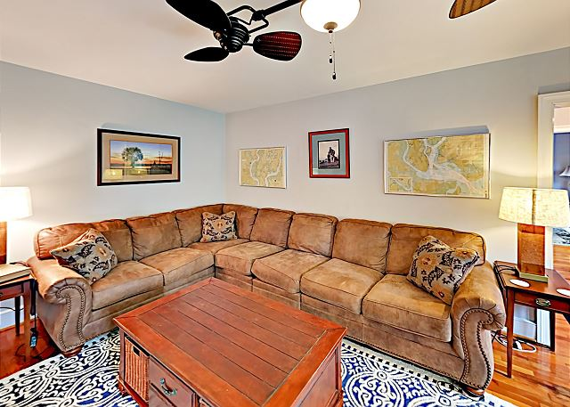 Charleston SC Vacation Rental A gorgeous sectional