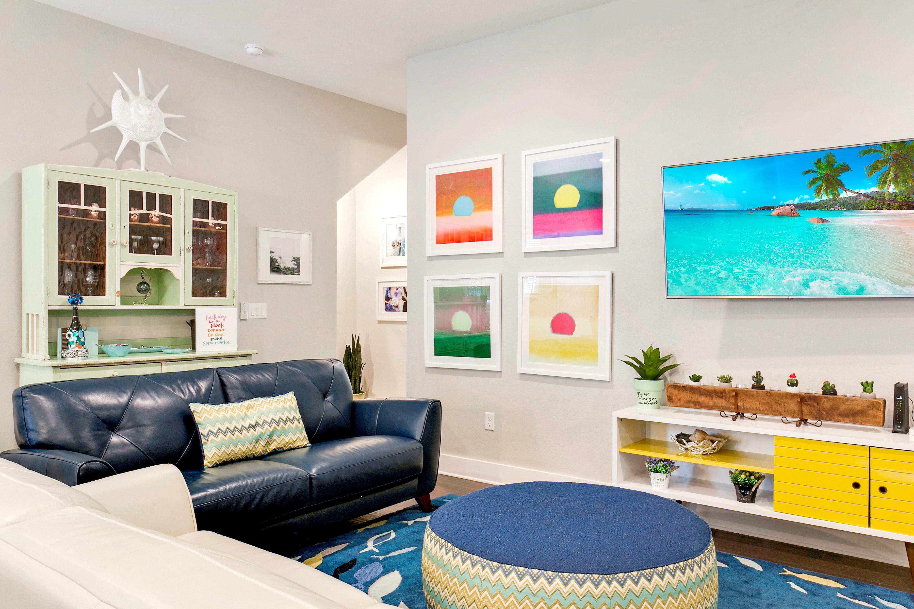 Port Aransas TX Vacation Rental Beach-inspired decor adds