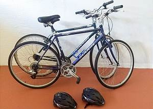 Take advantage of the two adult bikes located for guests at the house.