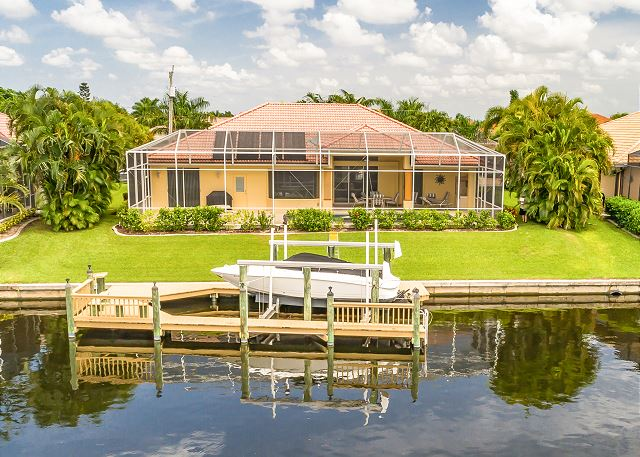 Your rental is located on 240 feet of canal with a private dock.