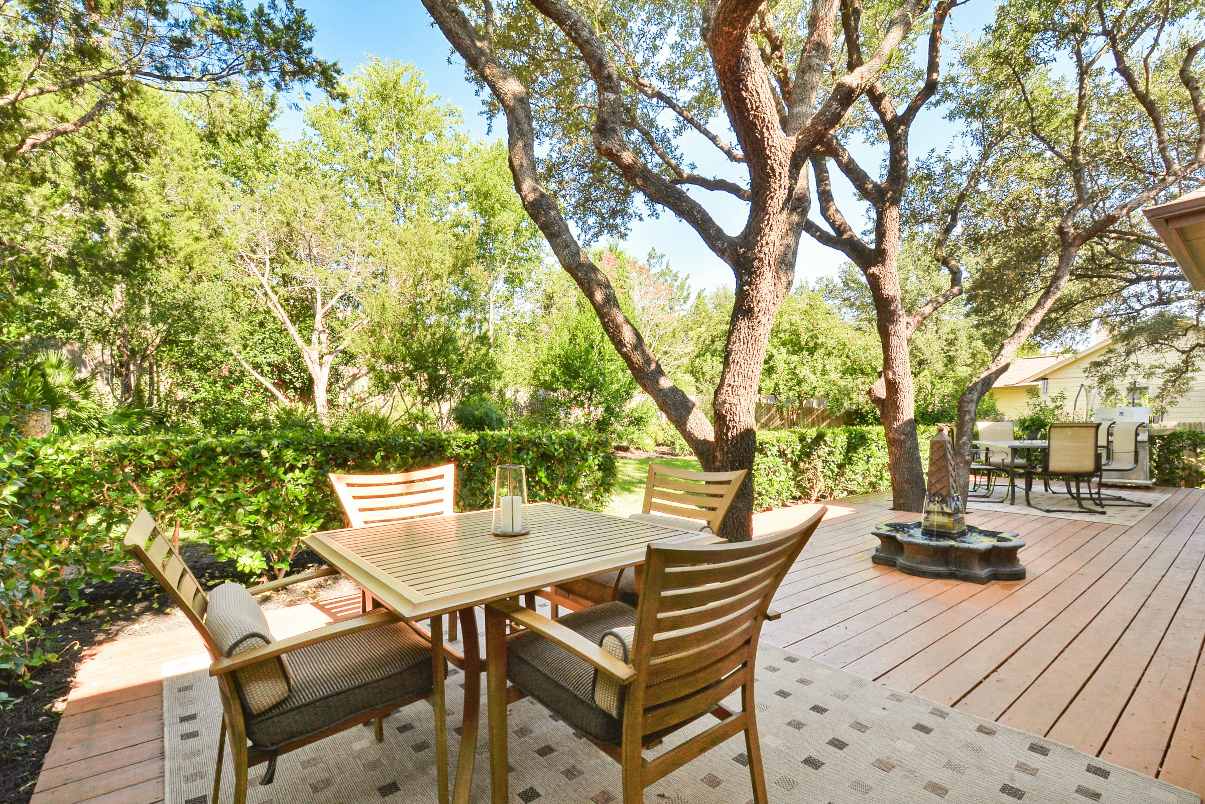 Austin TX Vacation Rental The extensive backyard