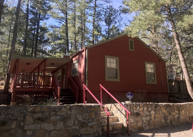 Plenty of parking at your retreat that is tucked away in upper canyon!
