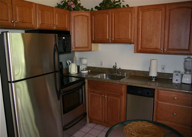 New kitchen cabinets with all new stainless appliances.