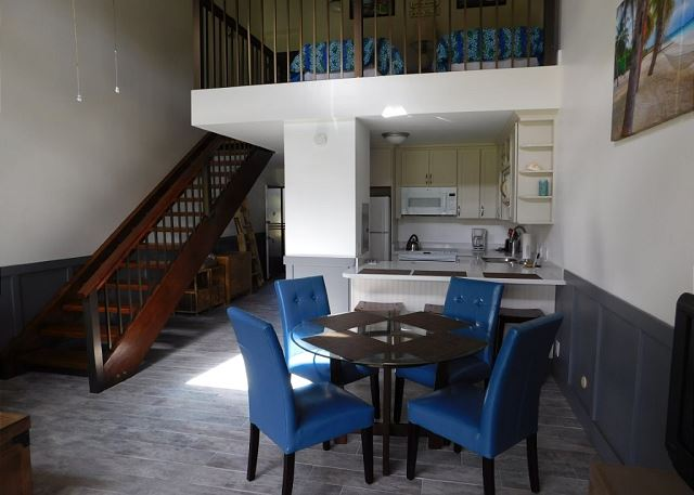View of Dining Area & Kitchen