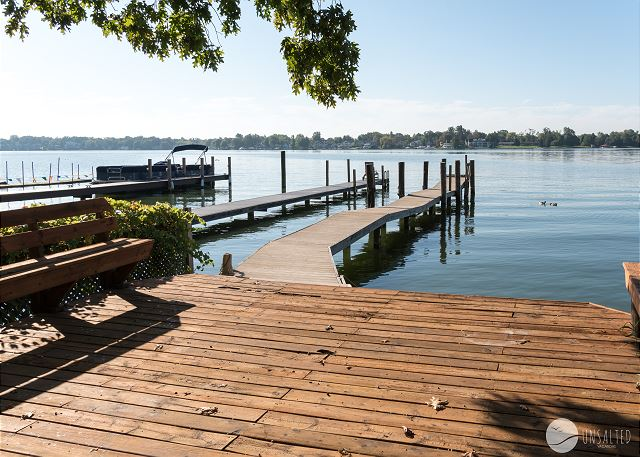 Enjoy leaving your boat in the water all week, and enjoy sitting on the private deck with amazing views of Spring Lake.