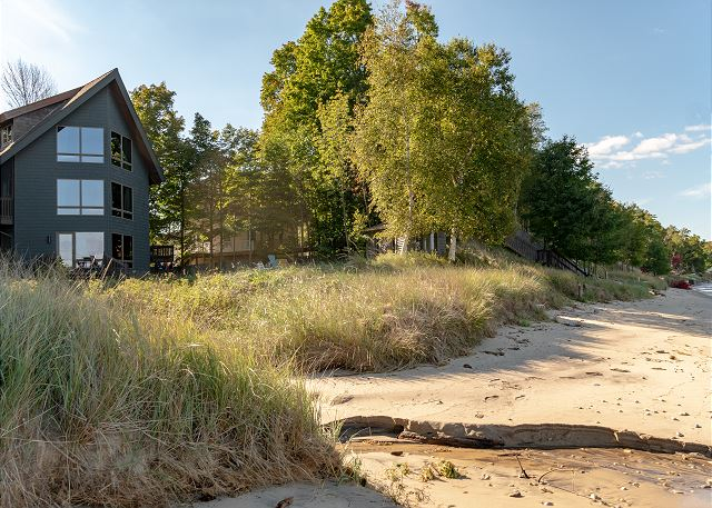 Beautiful vacation home with it's very own Lake Michigan beach