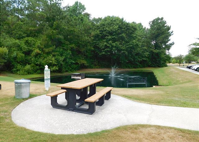 Grill Area & Pond