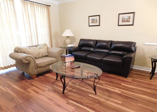 Living Room with New Floors