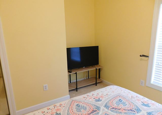 2nd Bedroom with SMART flat screen TV