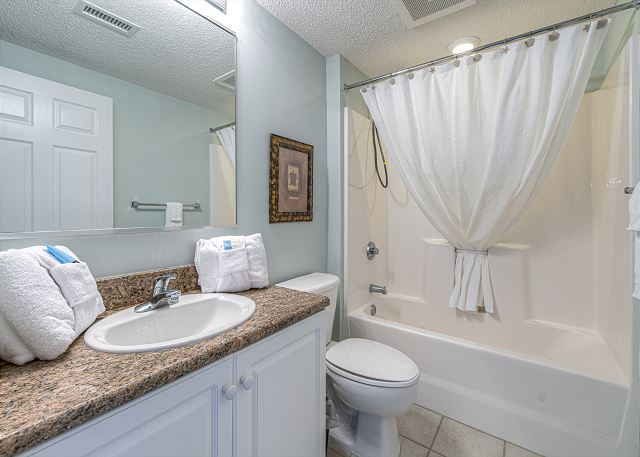 3rd bathroom with tub/shower combo