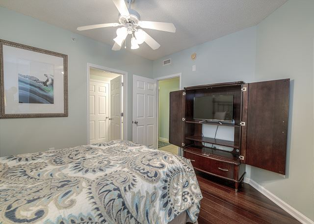 Bedroom #2 with flat screen TV