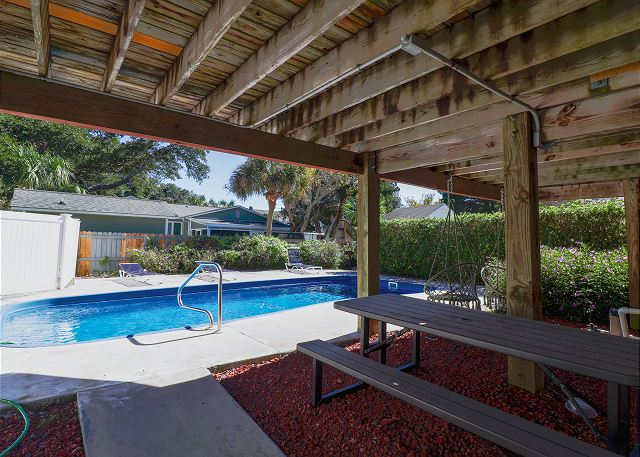 Pool Area Under House