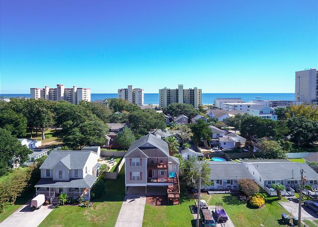 Drone View to Ocean