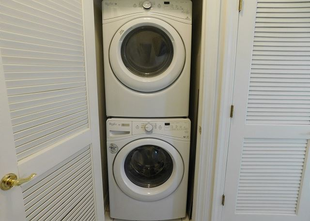 Stackable Washer and Dryer in unit