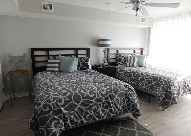 Waterfront Bedroom #1 with 2 Queen Beds