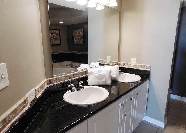 Waterfront Bedroom #2 Ensuite Bathroom with Double Vanity