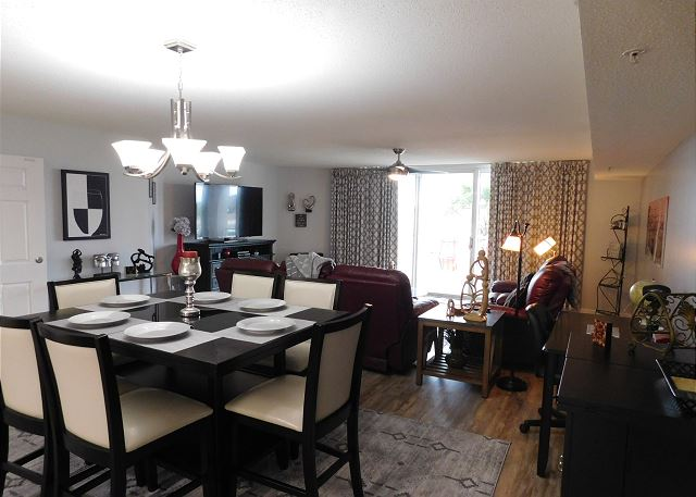 Dining Area with table and chairs for 6