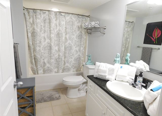 2nd Bathroom with Tub Shower Combo