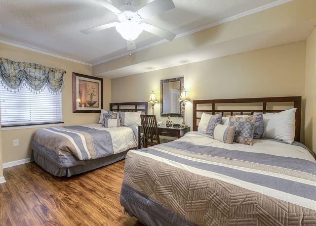 1st Bedroom with 2 Queens