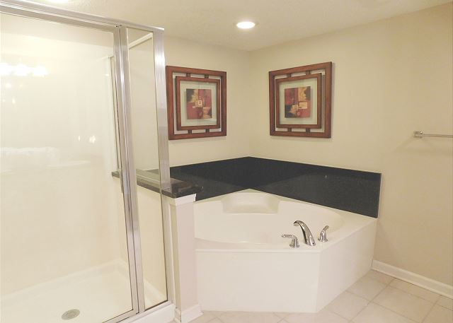 Waterside Bath with separate tub and shower