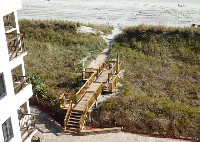 View of Walkway to Beach